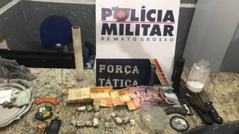 PM fecha boca de fumo e encontra droga enterrada em Barra do Garças