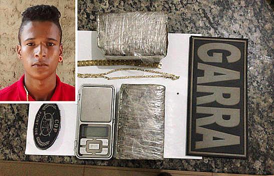 Traficante é preso pela Polícia Civil vendendo droga próximo a escola de Confresa